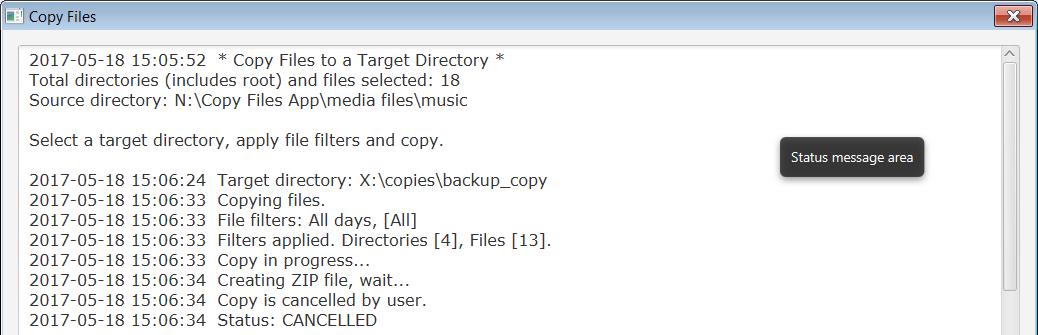 A Copy Files App using JavaFX